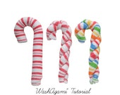 Washcloth Candy Cane, WashAgami ™, Intructional Video
