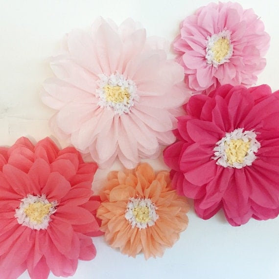 tissue paper flowers wedding backdrop first birthday party