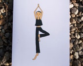 Yoga Tree Pose Girl/Set o...