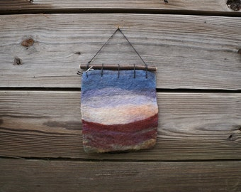 Mini Sunset - Wet Felted Wall Art - #4