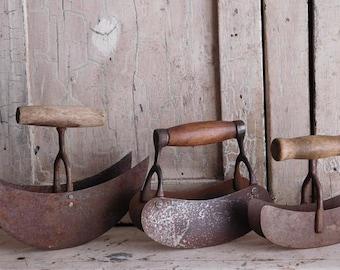 Vintage Metal Choppers, Primitive Farmhouse Kitchen Decor