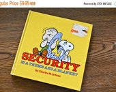 ON SALE Vintage Children's Book, Peanuts vintage book, Security is a Thumb and a Blanket