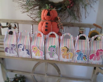 My Little Pony Inspired Gable Favor Boxes Set of 14
