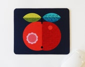 Red apple, mouse pad