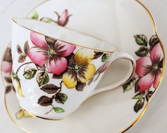 Salisbury Wild Rose Tea Cup and Saucer