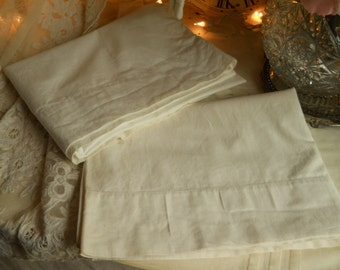 Vintage Guest Chamber White Pillowcases by Sears And Roebuck & Co. Vintage Bed Linens Bedding 42 In. x 36 In Before Hemming Linens