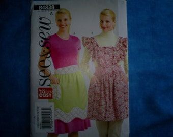 Butterick See and Sew 4838 Aprons Size S-M-L-Lg.