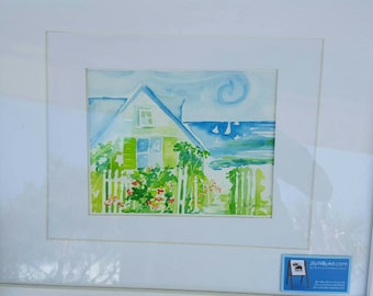 Commission Watercolor from your Photo: Example, Home in Seaside, Florida