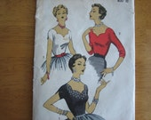 ADVANCE Pattern 6893 Misses' Blouse     1950's     Unprinted Pattern never been used