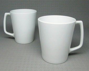 Corning Centura two tall mugs , all white