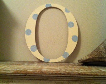 "Painted Wooden Letter - 'O' - Any Colour,  Roman Style - 20"", Wall letter, various colours, other sizes"