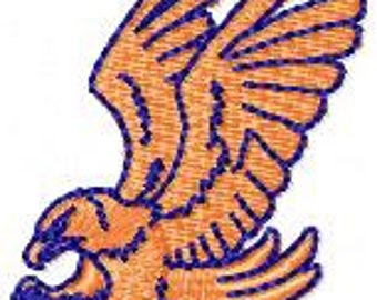 Eagle filled machine embroidery design-exclusive design,fits visor,cap,sport shirt