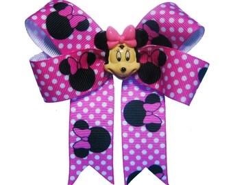 Girl Mouse Polka Dot Hair Bow