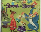 The sword in the stone Recycled Record Album Cover Book