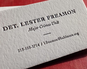 The Detective – Custom Letterpress Printed Calling Cards 100ct