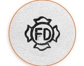 6mm  Fire Department Badge Metal Stamp, ImpressArt Fireman Design Stamp, Impress Art Stamps, Use w/ Texture Stamper, DIY Jewelry, Stamping