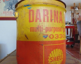 old shell grease bucket
