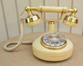 vintage 80s french style rotary dial telephone wisconsin telephone co western electric dated 1983 celebrity