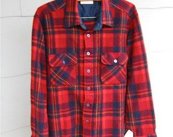 60's Arrow Red Plaid Men's Shirt