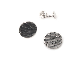 10 sets  20mm buttons / No Sew  jeans tack Metal buttons Antique silver  button fastener with manual -Zebra