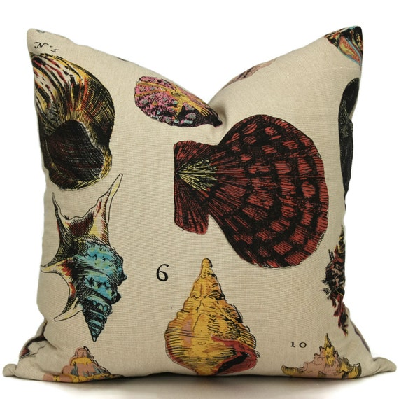 Shell Species Pillow Cover 22x22 Pillow Cover, Pillow case, Cushion, Design Legacy Pillow