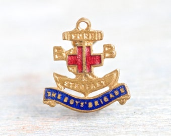 Boys Brigade Pin - Sure Stedfast - Brass Anchor