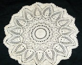 Spectacular Crocheted Doily, 15 Inches