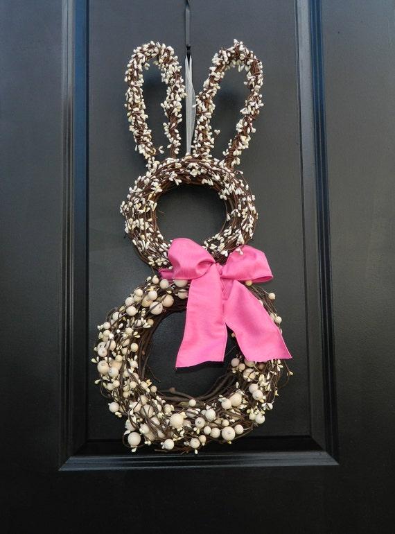 Love this bunny wreath