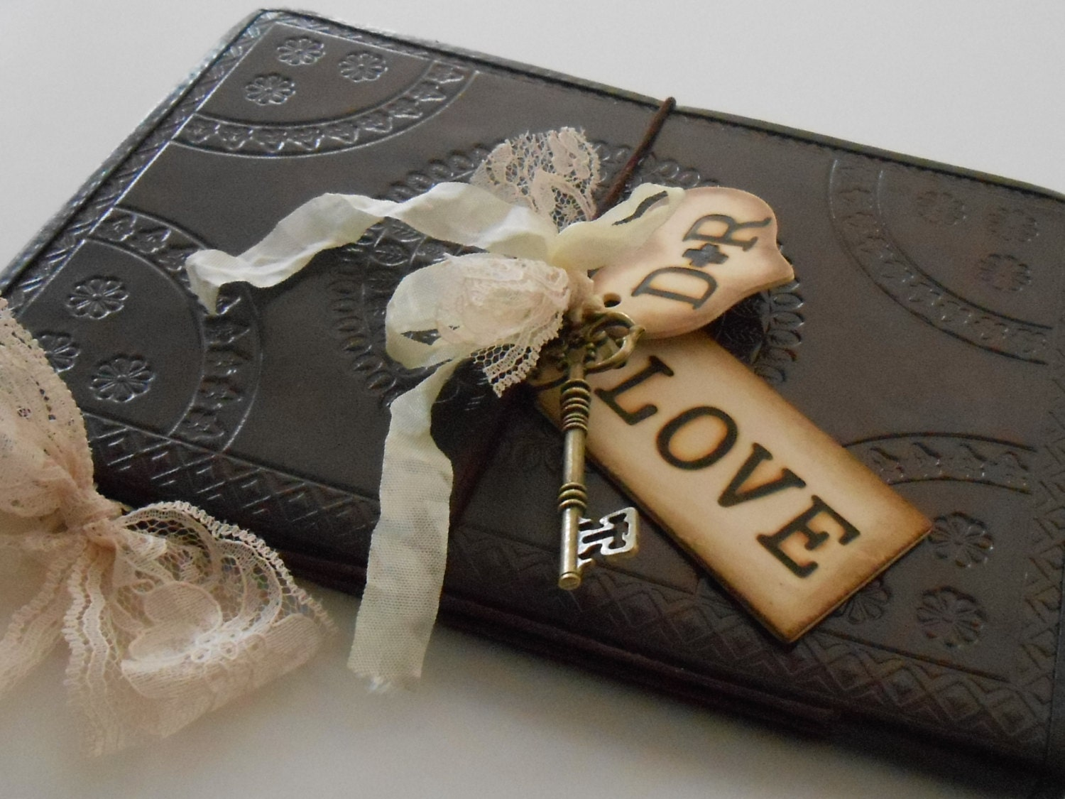 Leather Wedding Guest Book / Guest Books / Rustic By
