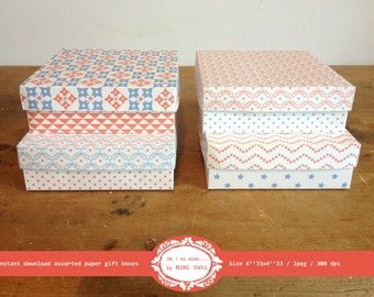 A4 Gift Paper - DIY Gift Box, Printable Paper Box Templates, DIY Jewelry Box, St Patricks Day Gift Box