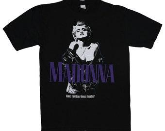 Madonna Shirt Vintage tshirt 1987 Who's That Girl World Tour concert tee 1980s Original pop band