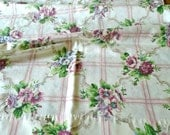 Extra Long Vintage Pillowcase / Queen Pillowcase / Floral Print Pillowcases / Roses / Mauve Flowers / Blue Flowers / Cream Pillowcase / Chic