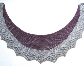 Skara Brae Shawlette - KNITTING PATTERN - pdf file by automatic download