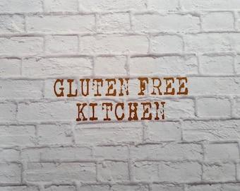 Gluten Free Vinyl Wall Decal Kitchen
