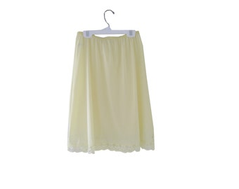 Half Slip Yellow Lace Size Small