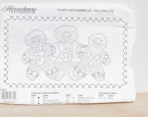 Herrschners Stamped Pillowcases Gingerbread Men Set of 2
