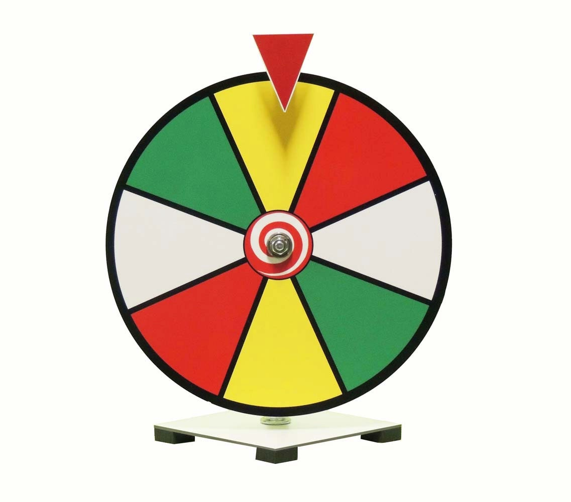 12 inch multi color dry erase spinning prize wheel for. Black Bedroom Furniture Sets. Home Design Ideas