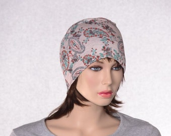 Paisley Cloche Round Hat Lightweight Summer Hat Ladies Womens Cap Sleep Hat Chemo Cap
