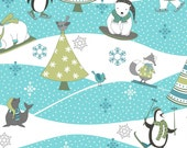 Arctic Antics FLANNEL - Multi Scenic Flannel Fabric by Debbie Mumm from Wilmington Prints
