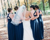 """RESERVED for Molly Geiger - 6 Custom Princess """"Infinity"""" Dresses in S. Navy Crystal"""