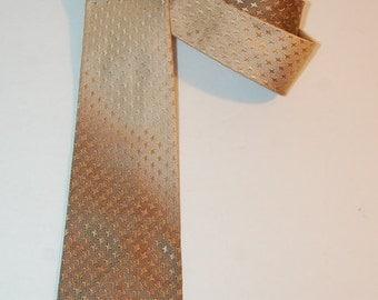 Vintage  Gold Stars Silk Tie by Capper & Capper Chicago Detroit Rockabilly