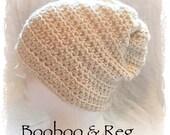 Ready to Ship Alpaca Wool~ Crochet Slouch Hat Slouchy Hobo Winter Ski Hat Beanie ~ Fisherman Cream Off White ~ Wife Christmas Gift