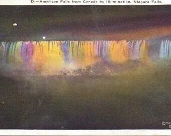 Niagara Falls, American Falls - Vintage Postcard - Unused (KK)