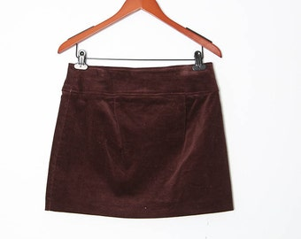 Vintage 90s Brown mini skirt