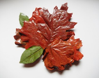 Concrete Leaf Wall Hanging