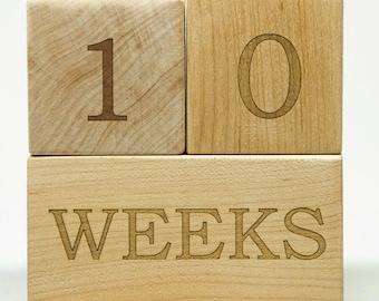 Baby Age Blocks, Baby Milestone Blocks, Baby Month Blocks, Wooden Age Blocks, Pregnancy Photo Prop, Maternity photo prop