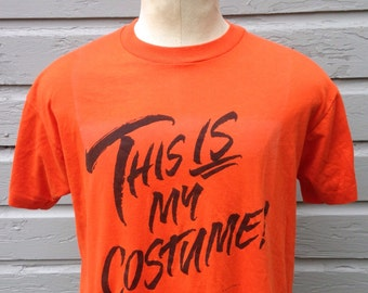1980's lazy Halloween costume t-shirt, fits like a roomy medium