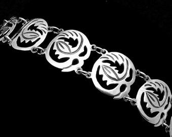 Vintage Elna Taxco Mexico Mexican Sterling Silver Bracelet 22361