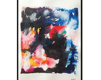 Original Abstract Watercolor On Paper. 11x15 Inch Abstract Wall Art. Abstract Watercolor Painting. Abstract Painting. Abstract Art Decor