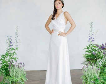 Bridal Separates, Bridal skirt, Lace top, Chiffon skirt, Wedding top, Wedding skirt, Modular pieces, Separates, Circle skirt, Silk skirt
